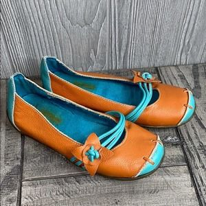 Kickers France Tessa Leather Flower Shoes